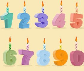 Birthday Candles design vector