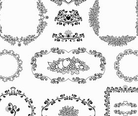 Vintage Ornamental Frames 9 vectors graphics