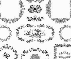 Vintage Ornamental Frames 9 vectors graphics