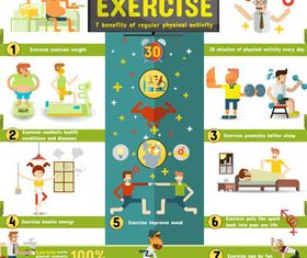 Healthy Lifestyle Infographics vector