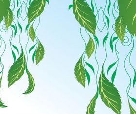 Hanging leaves Free vectors material
