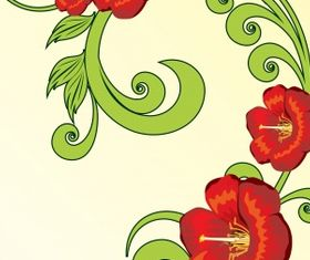 Vintage floral Illustration vector