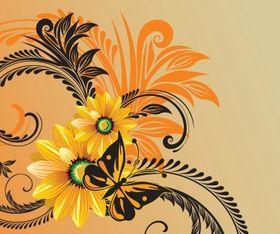 Artistic flower vector