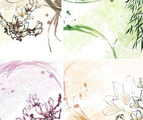 Dream flowers 8 design vector