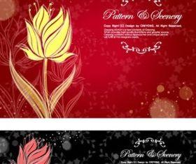 Dream flowers 9 design vector