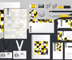 Corporate brand identity sets abstract colorful illusion decor vector
