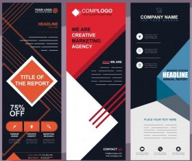 Corporate banners templates modern technology decor vector material