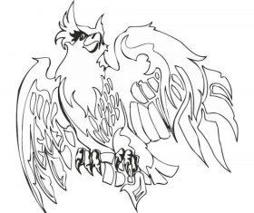 Eagle illustrations free vectors