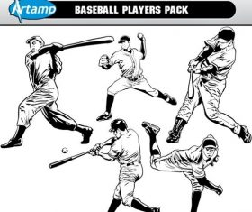 Base ball players pack free cdr vector