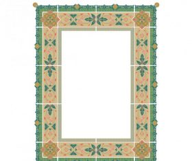 Decorative frame shiny vector