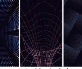 Technology abstract backgrounds dark modern dynamic vector