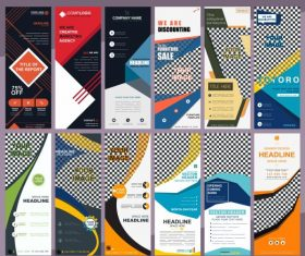 Corporate banners templates collection colorful modern abstract decor vector