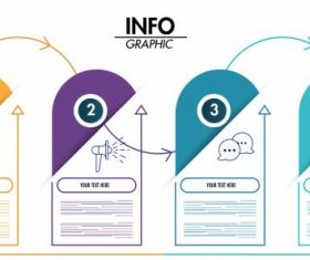 Infographic template vertical sticker shapes modern vector