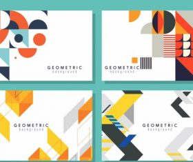 Geometrical background templates modern colorful flat decor vector