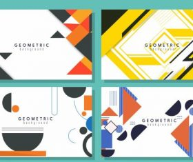 Geometric background templates flat colorful decor vectors material