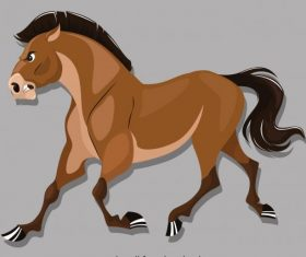 Horse colored cartoon vector