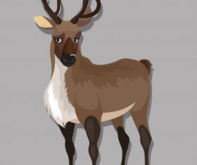 Wild reindeer cartoon character vector