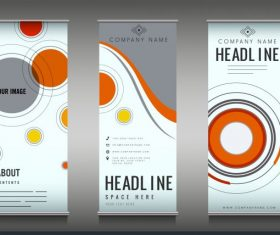 Company poster templates colorful flat circles decor vector design