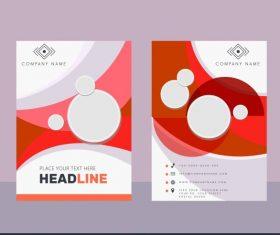 Corporate brochure templates modern bright colored circles decor vector