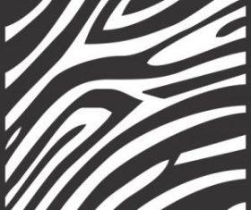 Seamless zebra skin pattern free vector