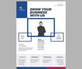 Corporate business flyer vector design