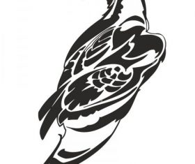 Hawk art free vector
