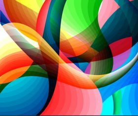 Abstract background template colorful dynamic illusion decor shiny vector