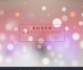 Bokeh background colored sparkling blurred light effect vector