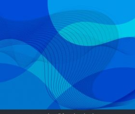 Decorative background abstract dynamic curved lines blue vector