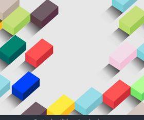 Decorative background modern colorful 3d cubic decor illustration vector