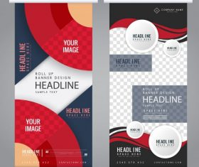 Company banner templates abstract colorful modern vertical vector