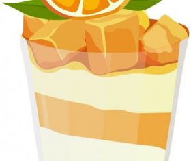 Orange juice bright colored 3d vector