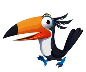 Toucan bird funny cute cartoon character vector design