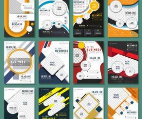 Corporate flyer templates vertical vector design