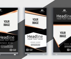 Corporate banner template elegant modern decor vertical shape vector