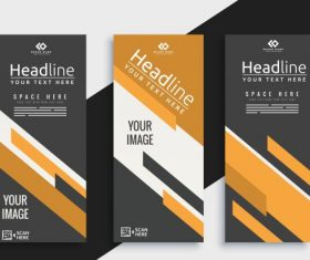 Corporate brochure templates elegant modern abstract decor shiny vector