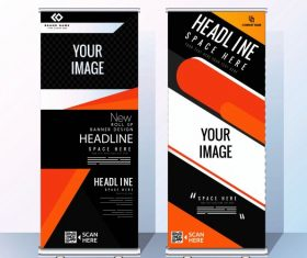 Corporate banner templates modern abstract vector