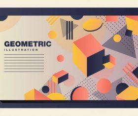 Geometric background 3d dynamic vector