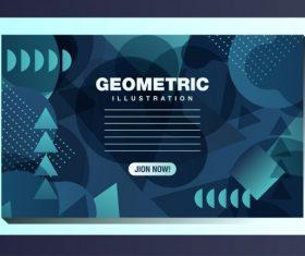 Technology background modern dark abstract geometric decor vector