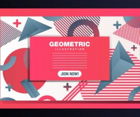 Geometric background modern messy flat 3d decor vector