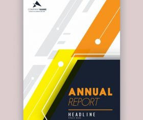 Company annual report template modern colored flat decor vector