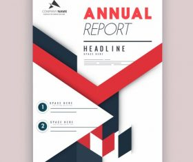 Company annual report template colorful bright modern vector design