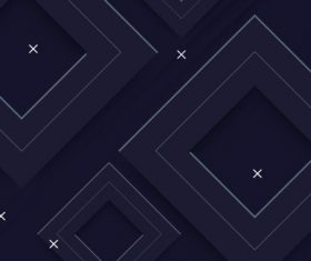 Geometric background modern dark squares vector