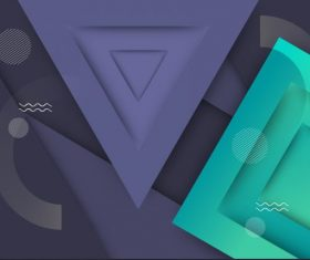 Geometric background modern colored flat vector set