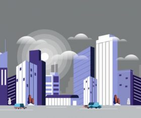 Modern city background contemporary highrises vector