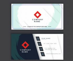 Business card template flat grunge decor contrast vector