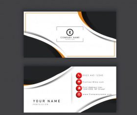 Business card template elegant modern abstract contrast decor vector