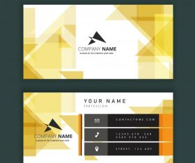 Business card template modern bright abstract decor vector
