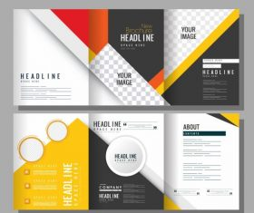 Corporate brochure templates modern colorful trifold vector graphics