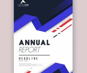 Corporate annual report template elegant modern 3d vector design